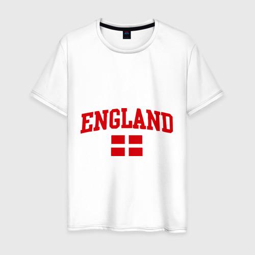 Мужская футболка хлопок Болею за английский футбол
