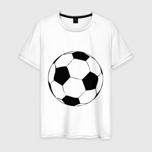 Мужская футболка хлопок Футбольный мяч