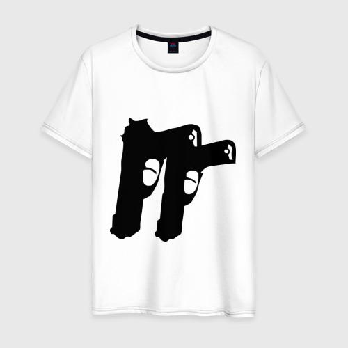 Мужская футболка хлопок Пистолеты