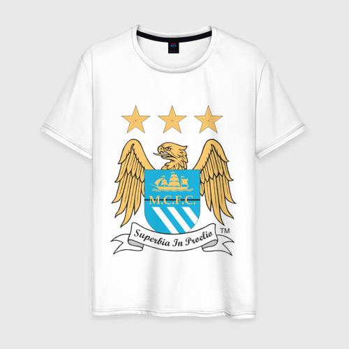 Мужская футболка хлопок Манчестер Сити