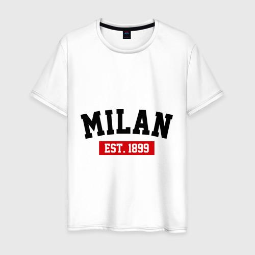 Мужская футболка хлопок FC Milan Est. 1899
