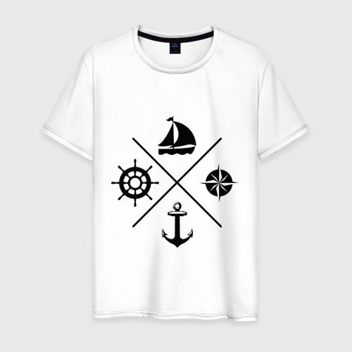 Мужская футболка хлопок Sailor theme