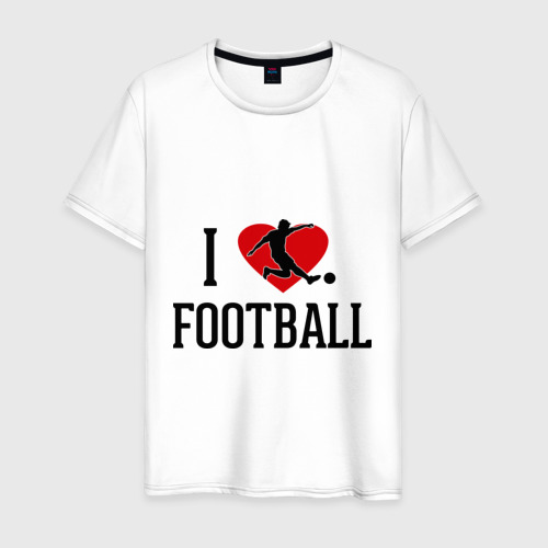 Мужская футболка хлопок Я люблю футбол