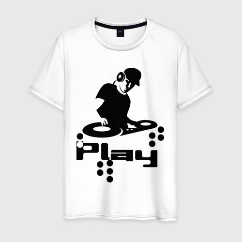 Мужская футболка хлопок Диджик играй