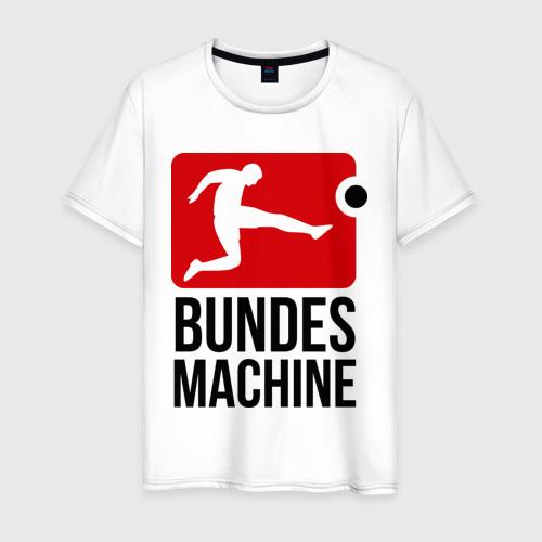 Мужская футболка хлопок Bundes machine football