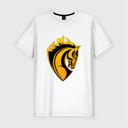 Мужская футболка хлопок Slim Конь символ