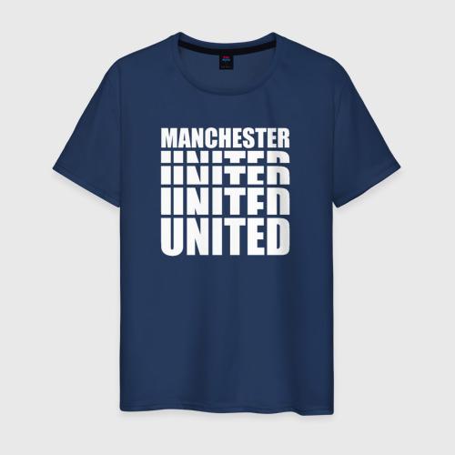Мужская футболка хлопок Manchester United white