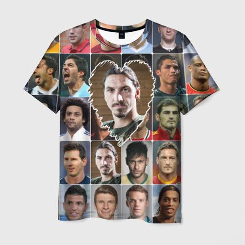 Мужская футболка 3D Златан Ибрагимович - лучший