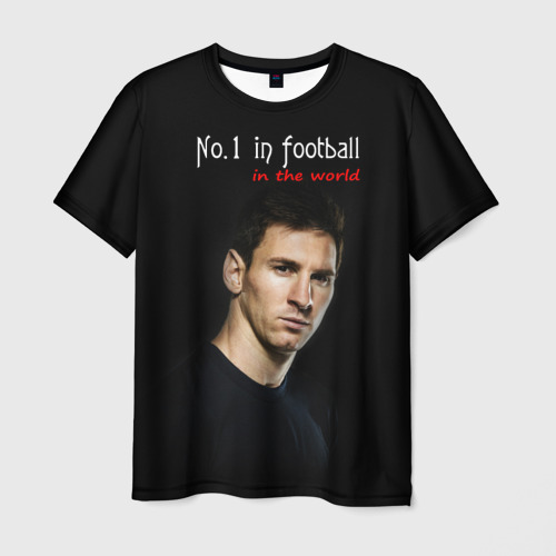 Мужская футболка 3D No.1 in football in the world