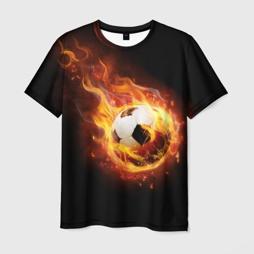 Мужская футболка 3D Страсть к футболу