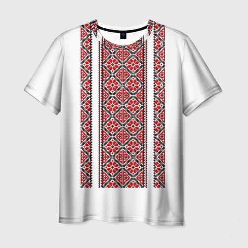 Мужская футболка 3D Вышивка 13