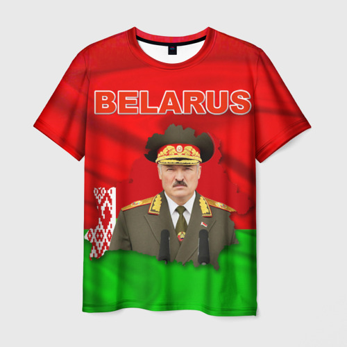 Мужская футболка 3D Belarus 17