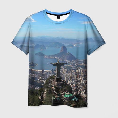 Мужская футболка 3D Рио-де-Жанейро