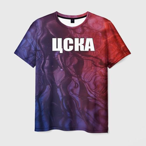 Мужская футболка 3D ЦСКА (красно-синие)