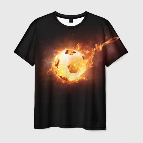 Мужская футболка 3D Огненный мяч