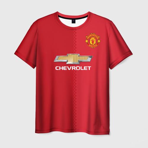 Мужская футболка 3D Манчестер Юнайтед форма