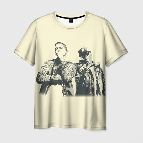 Мужская футболка 3D Эминем и 50 центов