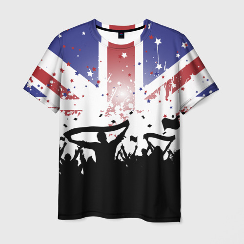 Мужская футболка 3D Английские фанаты