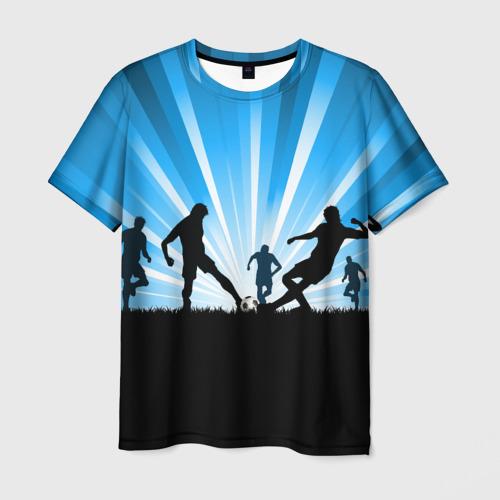 Мужская футболка 3D Футболисты