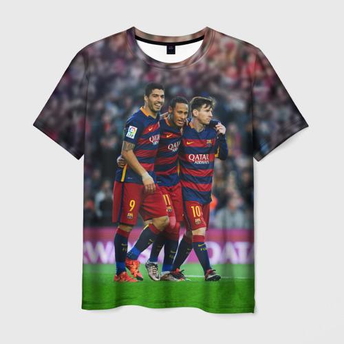 Мужская футболка 3D Barcelona5