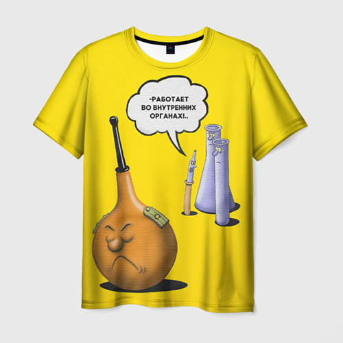 Мужская футболка 3D Во внутренних органах