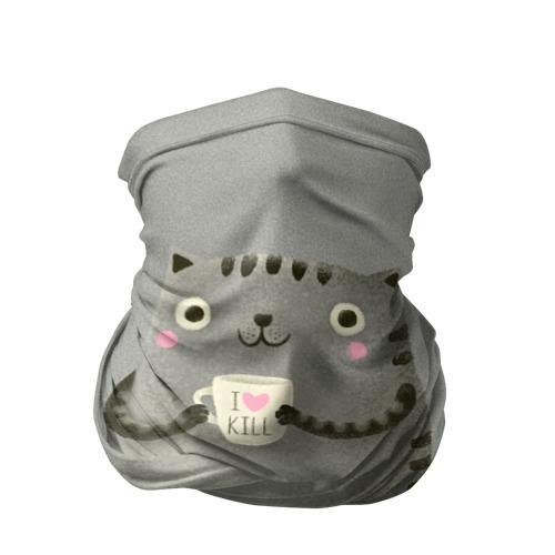 Бандана-труба 3D Cat Love Kill