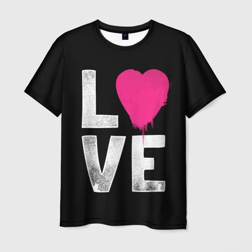 Мужская футболка 3D Love