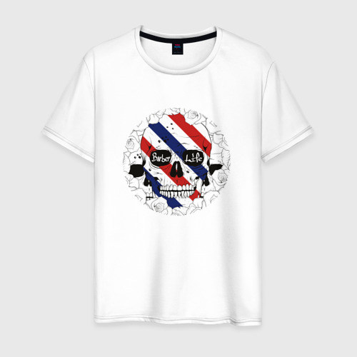 Мужская футболка хлопок Барбер Лайф  Barber Life