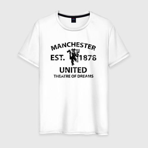 Мужская футболка хлопок Manchester United - Est.1878 (Чёрный)