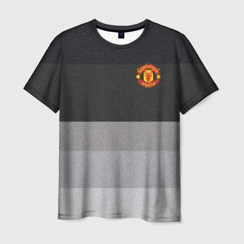Мужская футболка 3D Manchester United - Noise (Шум)