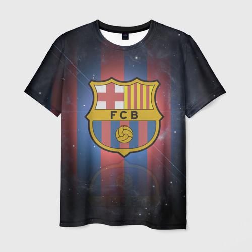 Мужская футболка 3D Я фанат fc Barcelona!
