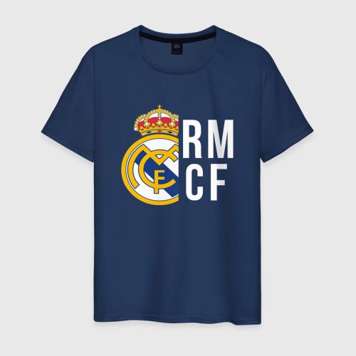 Мужская футболка хлопок Real Madrid - RM/CF (Classic)