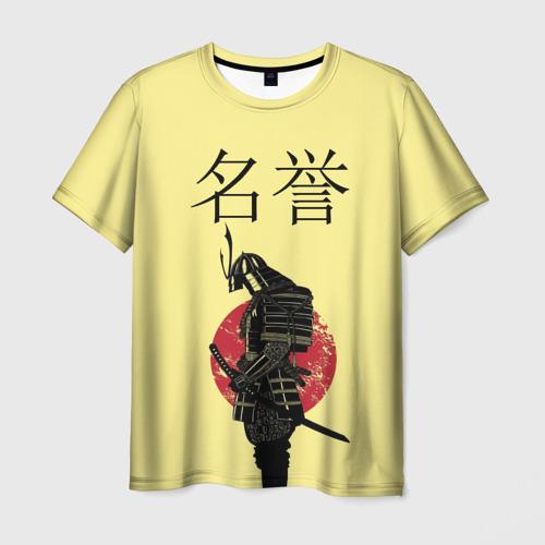 Мужская футболка 3D Японский самурай (честь)